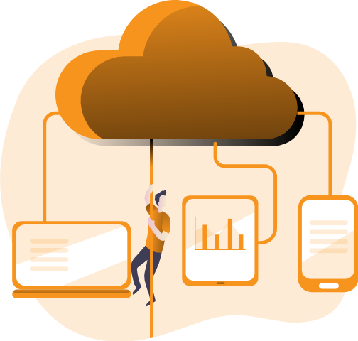 illustration cloud computing